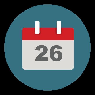 DGMEFM meetings graphic of calendar date